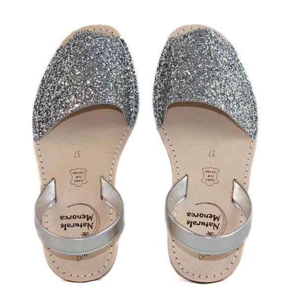Avarca glitter silver